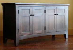 Beau Re Polished Kithcen Doors; Dark Polished Sideboard